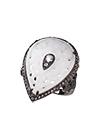 Серебряное кольцо с белым кварцем и топазами