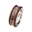 Кольцо из серебра и ювелирного каучука с фианитами