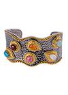 Silver bracelet with diamonds