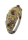 Silver bracelet with smoky and cognac quartz