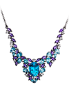 Necklace with amethyst and topaz