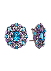 Earrings with amethyst and topaz
