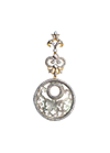 Gold plated silver pendant with mother of pearl, jewellery enamel and cubic zirconia
