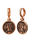 Rose gold plated silver earrings