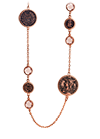 Rose gold plated silver necklace with cubic zirconia