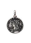 Rhodium plated silver pendant